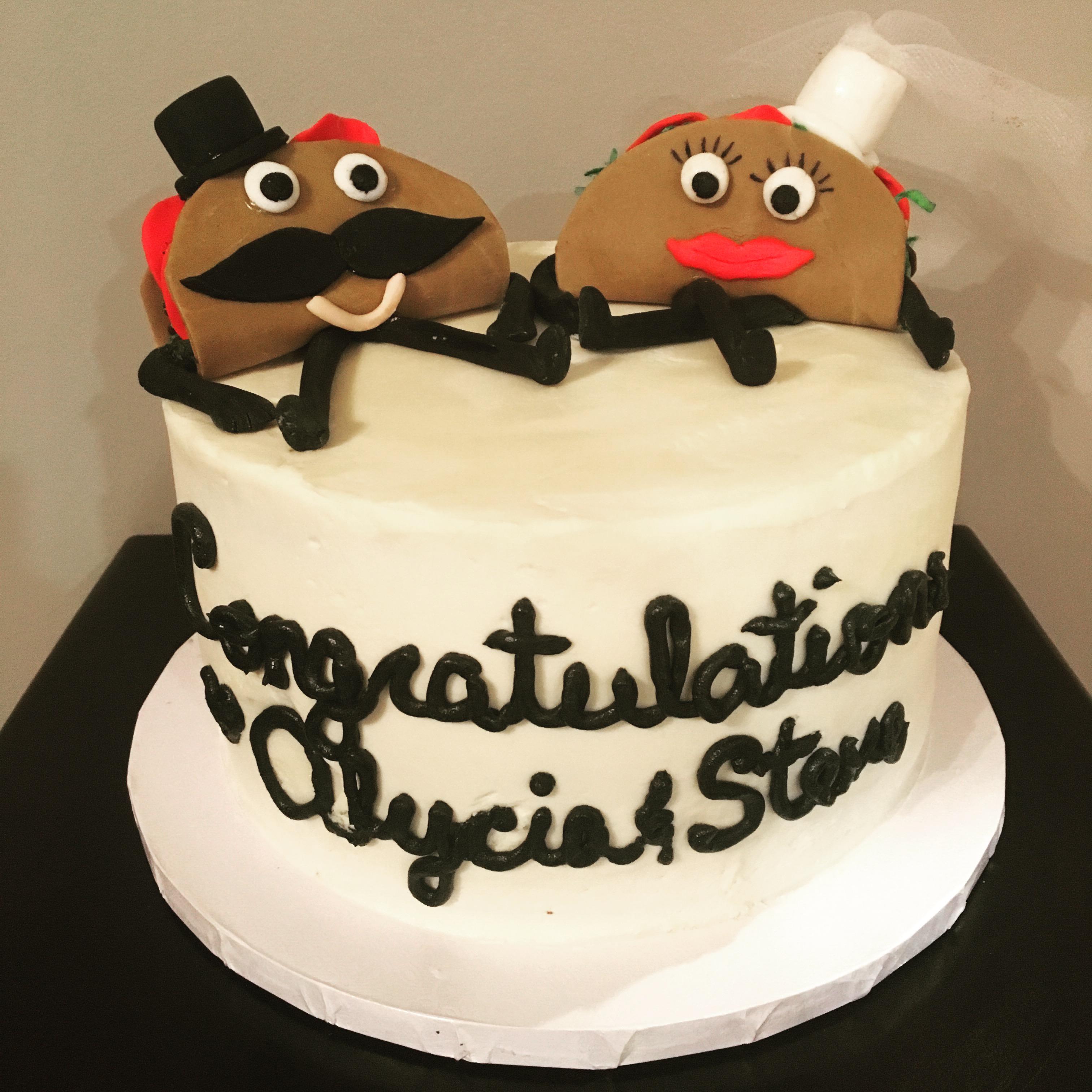 Taco Engagement Cake