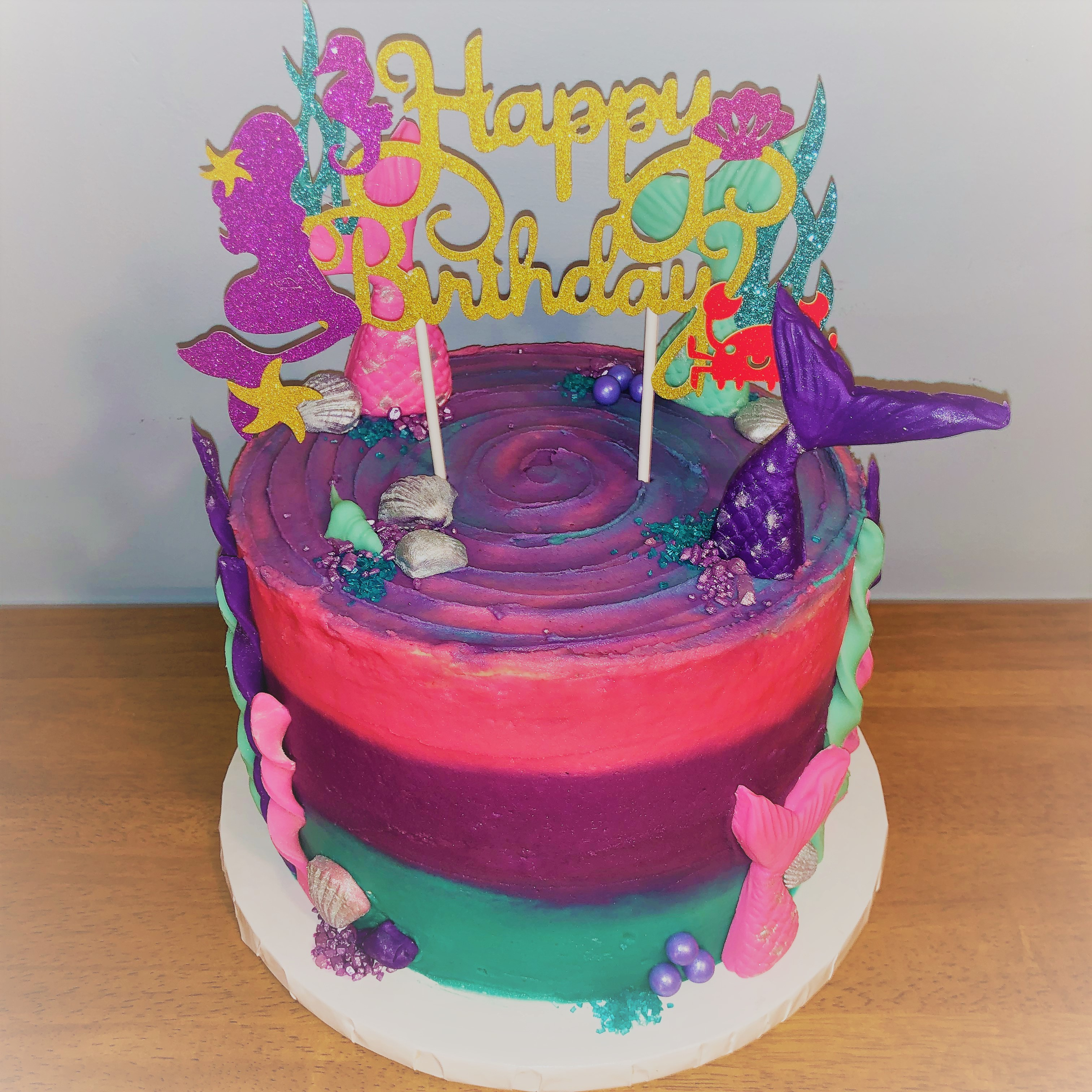 Mermaid Bright Cake1