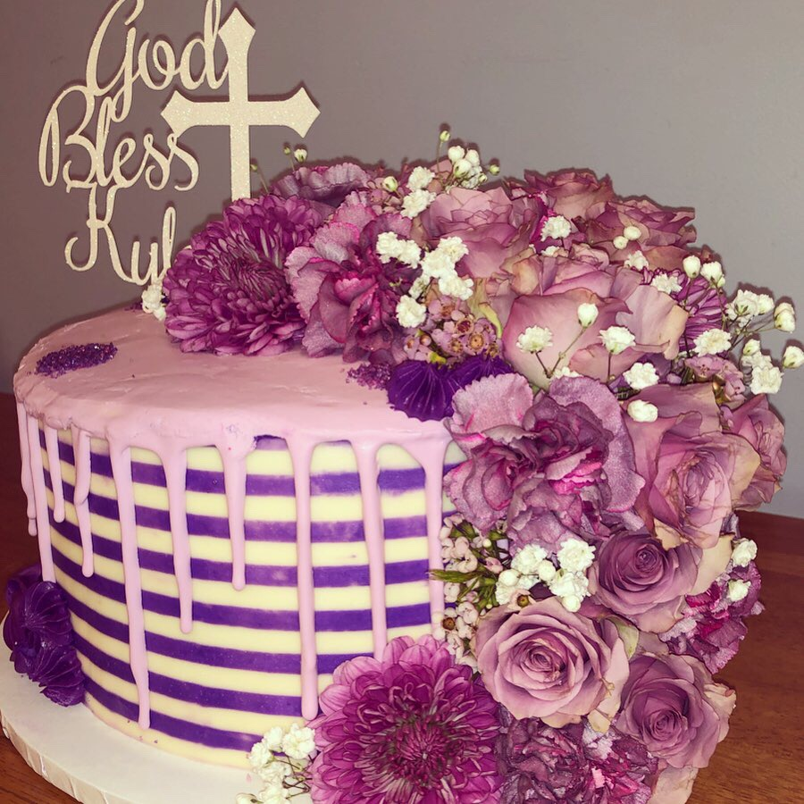 Purple Communion Cake2